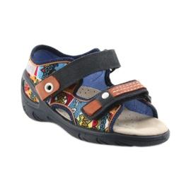 Befado obuwie dziecięce sandałki 065P117 wielokolorowe 1