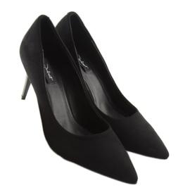Klasyczne szpilki damskie czarne 66-12 Black 1