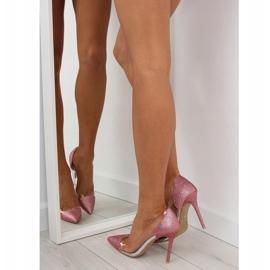Szpilki brokatowe różowe 5133 Pink 3