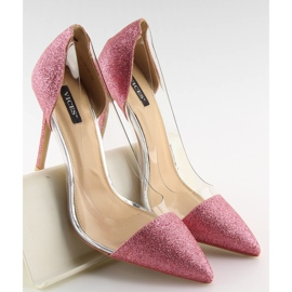 Szpilki brokatowe różowe 5133 Pink 4