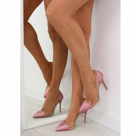 Szpilki brokatowe różowe 5133 Pink 2