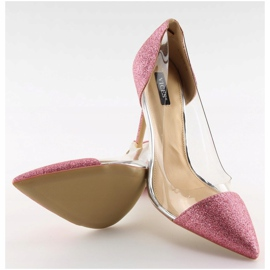 Szpilki brokatowe różowe 5133 Pink 5