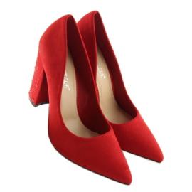 Czółenka na słupku czerwone GH8288-8 Red 4