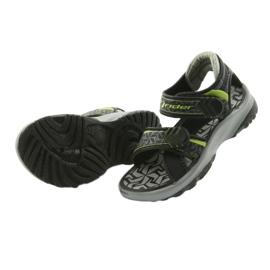 Rider czarno-szare sandały 80608 czarne zielone 4