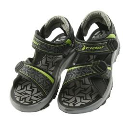 Rider czarno-szare sandały 80608 czarne zielone 3