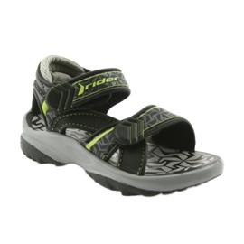 Rider czarno-szare sandały 80608 czarne zielone 1