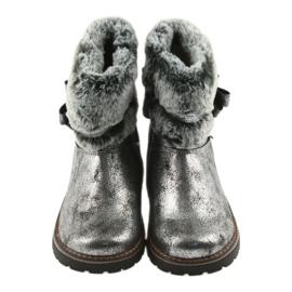American Club American kozaki buty zimowe z futerem 17042 czarne szare 4