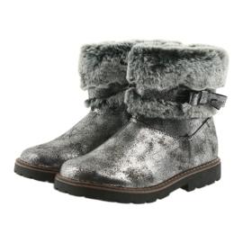 American Club American kozaki buty zimowe z futerem 17042 czarne szare 3