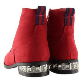 Botki damskie czerwone 168-176 Red 3