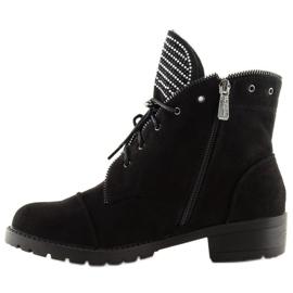 Workery damskie czarne GF055 Black 3