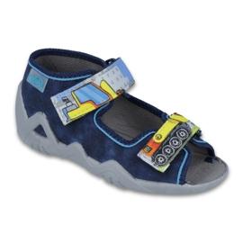 Befado obuwie dziecięce 250P077 granatowe wielokolorowe 1