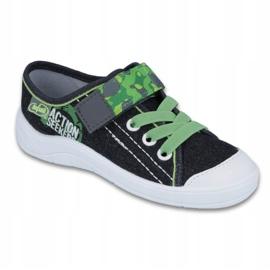 Befado obuwie dziecięce 251X102 szare zielone 1
