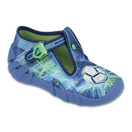 Befado obuwie dziecięce 110P339 niebieskie zielone 1