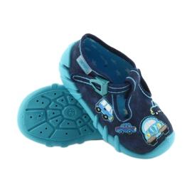 Befado kapcie obuwie dziecięce 110P342 niebieskie granatowe 4