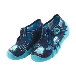Befado kapcie obuwie dziecięce 110P342 niebieskie granatowe 3