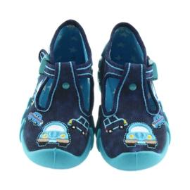 Befado kapcie obuwie dziecięce 110P342 niebieskie granatowe 2