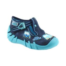 Befado kapcie obuwie dziecięce 110P342 niebieskie granatowe 1