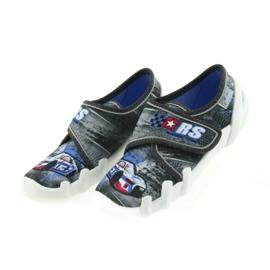 Befado buty dziecięce kapcie 273X251 czarne niebieskie szare czerwone 4