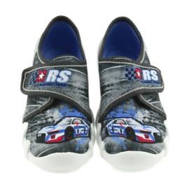 Befado buty dziecięce kapcie 273X251 czarne niebieskie szare czerwone 3