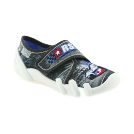 Befado buty dziecięce kapcie 273X251 czarne niebieskie szare czerwone 1