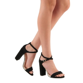 Sandały Na Słupku VINCEZA czarne 1