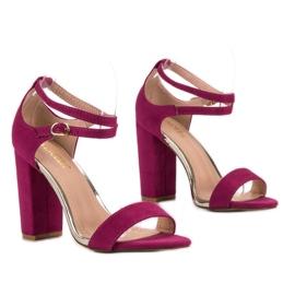Sandały Na Słupku VINCEZA fioletowe 5