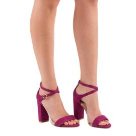Sandały Na Słupku VINCEZA fioletowe 6