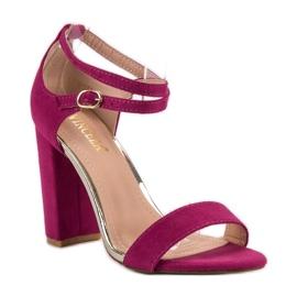 Sandały Na Słupku VINCEZA fioletowe 2