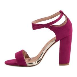 Sandały Na Słupku VINCEZA fioletowe 3