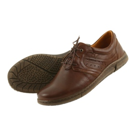 Riko półbuty buty męskie brązowe 870 4