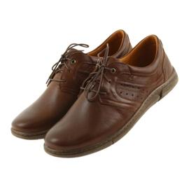 Riko półbuty buty męskie brązowe 870 3