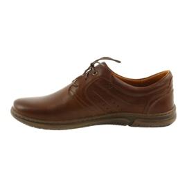 Riko półbuty buty męskie brązowe 870 2