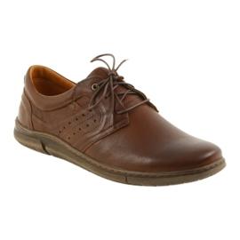 Riko półbuty buty męskie brązowe 870 1