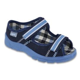 Befado obuwie dziecięce  969X101 granatowe niebieskie 1