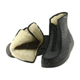 Befado buty męskie pu ciepłe kapcie 996M004 szare 5