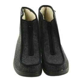 Befado buty męskie pu ciepłe kapcie 996M004 szare 4