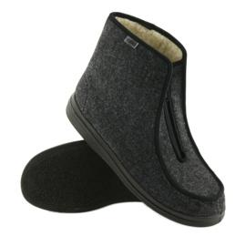 Befado buty męskie pu ciepłe kapcie 996M004 szare 3
