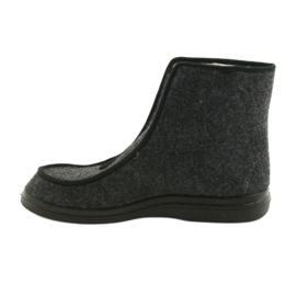 Befado buty męskie pu ciepłe kapcie 996M004 szare 2