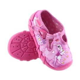 Befado buty dziecięce kapcie 110P350 różowe 4