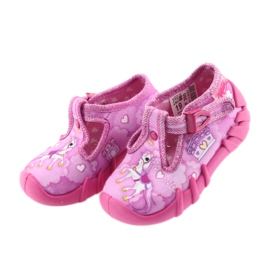 Befado buty dziecięce kapcie 110P350 różowe 3