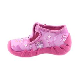 Befado buty dziecięce kapcie 110P350 różowe 2