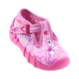 Befado buty dziecięce kapcie 110P350 różowe 1