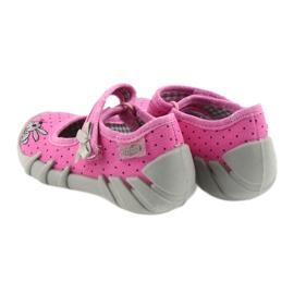 Befado buty dziecięce kapcie balerinki 109P169 czarne szare różowe 4