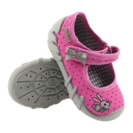 Befado buty dziecięce kapcie balerinki 109P169 czarne szare różowe 3