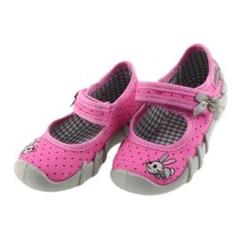 Befado buty dziecięce kapcie balerinki 109P169 czarne szare różowe 2