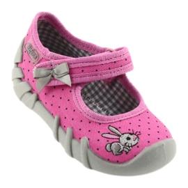 Befado buty dziecięce kapcie balerinki 109P169 czarne szare różowe 1