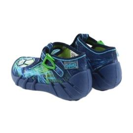 Befado buty dziecięce kapcie 110P339 niebieskie zielone granatowe 4