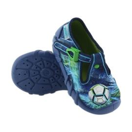 Befado buty dziecięce kapcie 110P339 niebieskie zielone granatowe 3