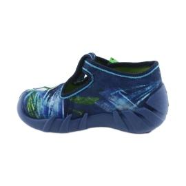 Befado buty dziecięce kapcie 110P339 niebieskie zielone granatowe 2