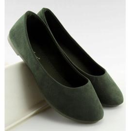 Baleriny damskie zielone JX1018 Green 2